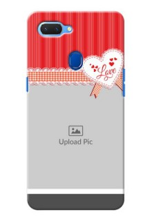 Realme 2 phone cases online: Red Love Pattern Design