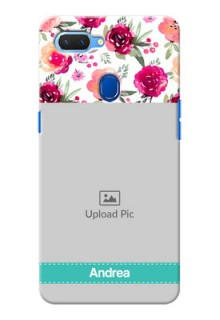 Realme 2 Personalized Mobile Cases: Watercolor Floral Design