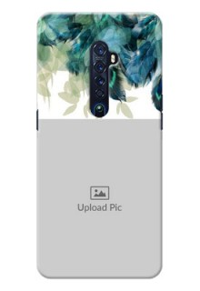 Oppo Reno 2 Phone Cases: Image with Boho Peacock Feather Design