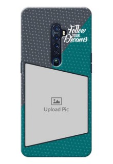 Oppo Reno 2 Back Covers: Background Pattern Design with Quote