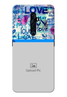 Reno 2Z Mobile Covers Online: Colorful Love Design