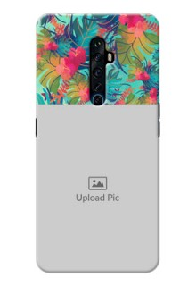 Reno 2Z Personalized Phone Cases: Watercolor Floral Design
