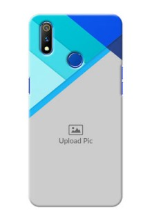 Realme 3 Pro Phone Cases Online: Blue Abstract Cover Design