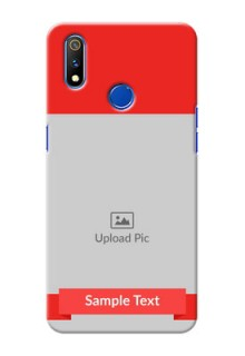 Realme 3 Pro Personalised mobile covers: Simple Red Color Design