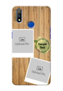 Realme 3 Pro Custom Mobile Phone Covers: Wooden Texture Design