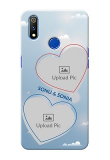 Realme 3 Pro Phone Cases: Blue Color Couple Design