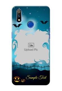 Realme 3 Pro Personalised Phone Cases: Halloween frame design