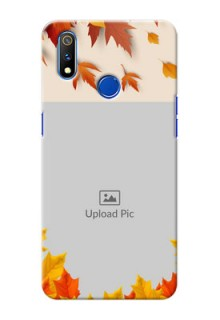 Realme 3 Pro Mobile Phone Cases: Autumn Maple Leaves Design