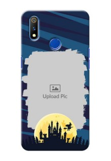 Realme 3 Pro Back Covers: Halloween Witch Design