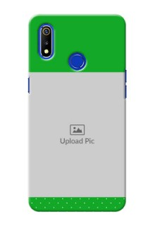 Realme 3 Personalised mobile covers: Green Pattern Design