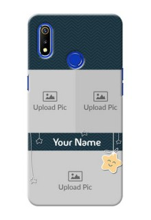 Realme 3 Mobile Back Covers Online: Hanging Stars Design