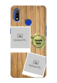 Realme 3 Custom Mobile Phone Covers: Wooden Texture Design