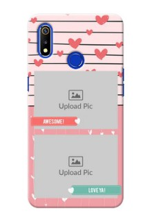 Realme 3 custom mobile covers: Photo with Heart Design