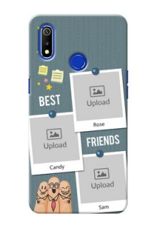 Realme 3 Mobile Cases: Sticky Frames and Friendship Design
