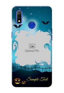 Realme 3 Personalised Phone Cases: Halloween frame design