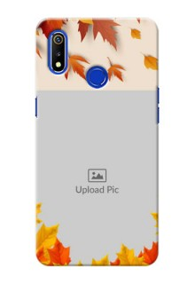 Realme 3 Mobile Phone Cases: Autumn Maple Leaves Design