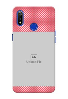 Realme 3i Custom Mobile Case with White Dotted Design