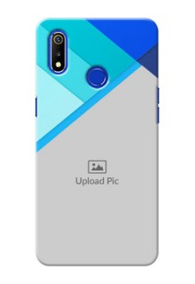 Realme 3i Phone Cases Online: Blue Abstract Cover Design