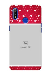 Realme 3i custom back covers: Hearts Mobile Case Design