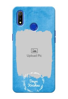 Realme 3i custom mobile cases: Blue Color Vintage Design