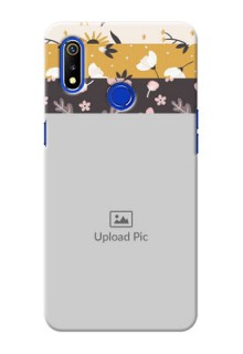 Realme 3i mobile cases online: Stylish Floral Design