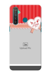 Realme 5 Pro phone cases online: Red Love Pattern Design