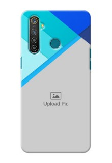 Realme 5 Pro Phone Cases Online: Blue Abstract Cover Design