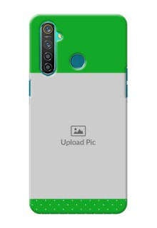 Realme 5 Pro Personalised mobile covers: Green Pattern Design