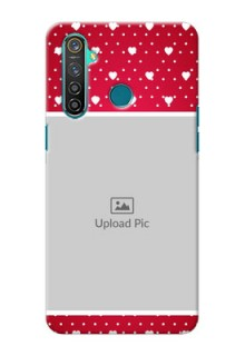 Realme 5 Pro custom back covers: Hearts Mobile Case Design