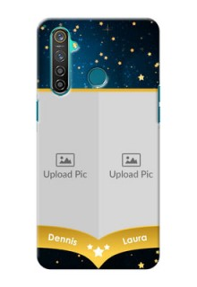 Realme 5 Pro Mobile Covers Online: Galaxy Stars Backdrop Design