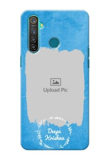 Realme 5 Pro custom mobile cases: Blue Color Vintage Design