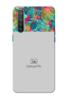 Realme 5 Pro Personalized Phone Cases: Watercolor Floral Design