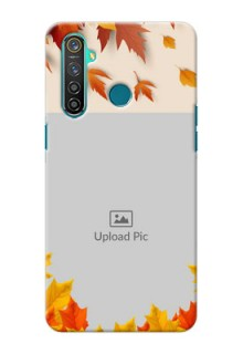 Realme 5 Pro Mobile Phone Cases: Autumn Maple Leaves Design
