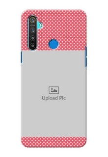 Realme 5 Custom Mobile Case with White Dotted Design