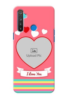 Realme 5 Personalised mobile covers: Love Doodle Design