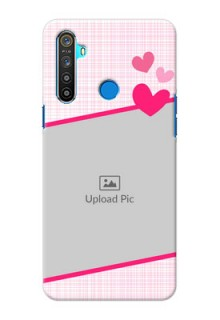 Realme 5 Personalised Phone Cases: Love Shape Heart Design