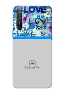 Realme 5 Mobile Covers Online: Colorful Love Design