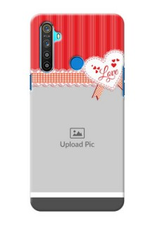 Realme 5 phone cases online: Red Love Pattern Design