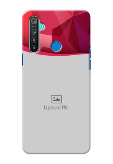Realme 5 custom mobile back covers: Red Abstract Design