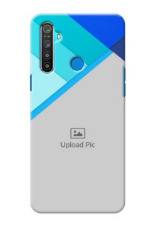 Realme 5 Phone Cases Online: Blue Abstract Cover Design