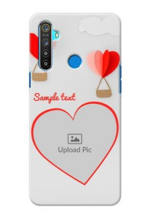Realme 5 Phone Covers: Parachute Love Design