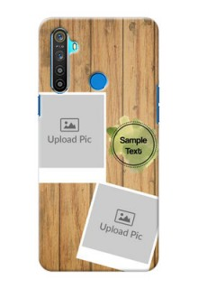 Realme 5 Custom Mobile Phone Covers: Wooden Texture Design