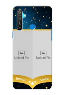 Realme 5 Mobile Covers Online: Galaxy Stars Backdrop Design