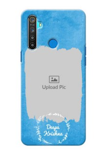 Realme 5 custom mobile cases: Blue Color Vintage Design
