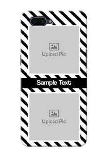 Realme C1 (2019) Back Covers: Black And White Stripes Design