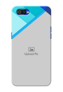 Realme C2 Phone Cases Online: Blue Abstract Cover Design