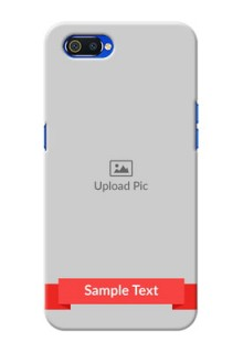 Realme C2 Personalised mobile covers: Simple Red Color Design