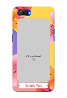 Realme C2 Mobile Covers: 3 Image With Vintage Floral Design