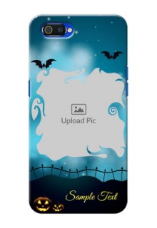 Realme C2 Personalised Phone Cases: Halloween frame design