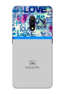 Realme X Mobile Covers Online: Colorful Love Design